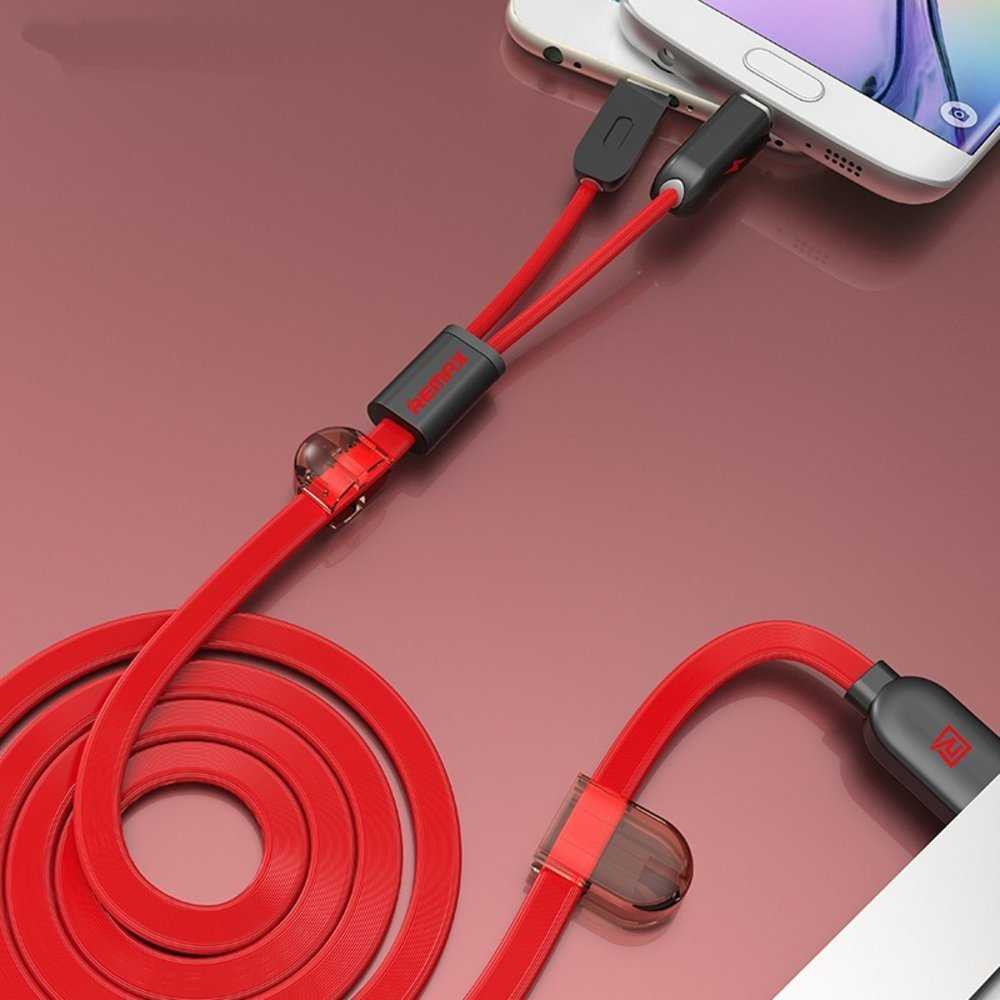 REMAX® Twins Series - 2 in 1: Apple Lightning & Micro USB EZ213-RED - EZELLER