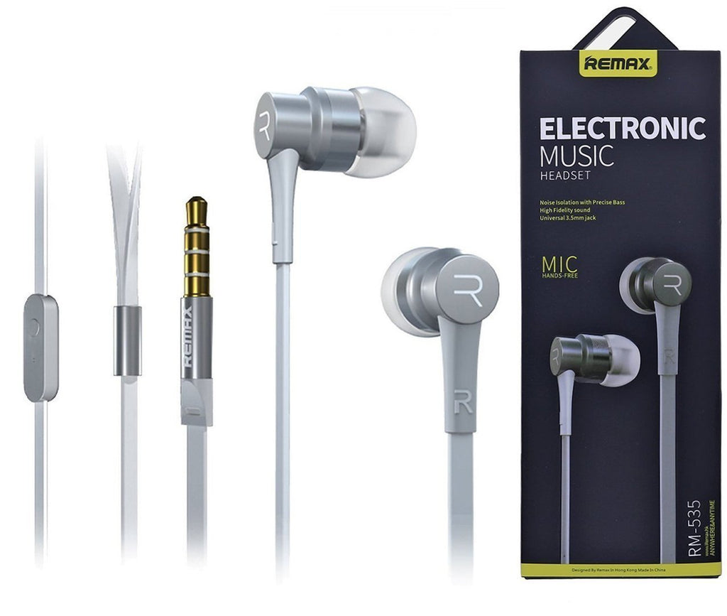 REMAX® Stylish In-Ear Earphones Earbud Headset with Mic EZ219-Gray - EZELLER