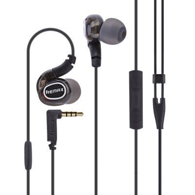 REMAX® Wired Stereo Earphones-EZ222- (Black) - EZELLER