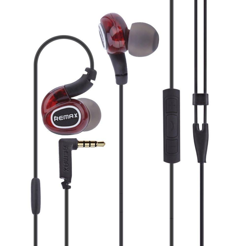REMAX Wired Stereo Earphones -EZ222- (RED) - EZELLER