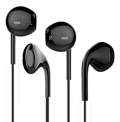 EAR PHONE/Head phones!!!s!Apple Earphone with un-breakable Cables headphone with MIC EZ235 - BLACK - EZELLER