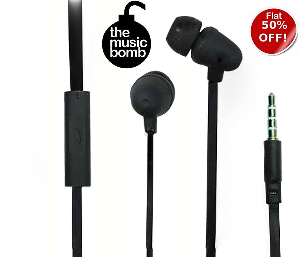 Bomber Bass Earphone Nuclear Series 3.5mm headphone with MIC EZ247-Black - EZELLER