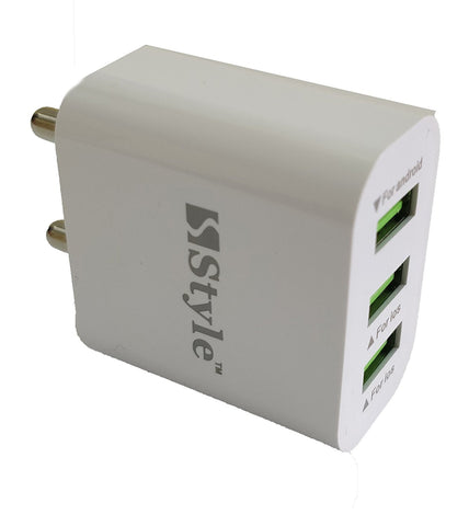Hi-Speed Turbo 3 USB Port Fast Charger Adaptor with 3.1A Output-Over Current Protection EZ251 - EZELLER