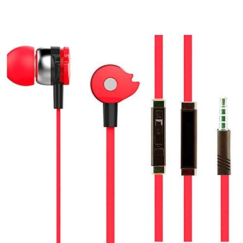 Music Fire Earphone with Mic headphone for Calls & Music EZ271 RED - EZELLER