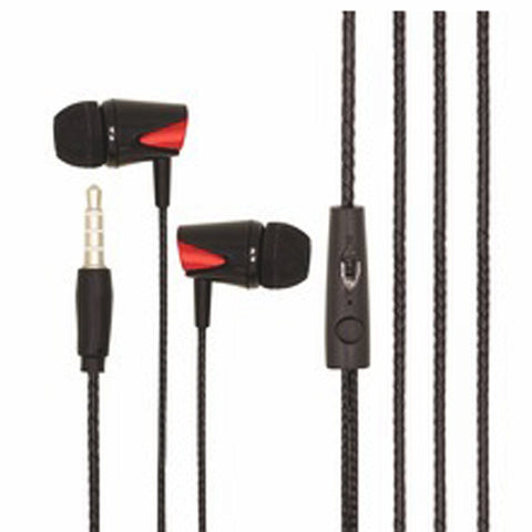 Earphone with Mic universal 3.5mm headphone with mic  EZ275-BLACK - EZELLER