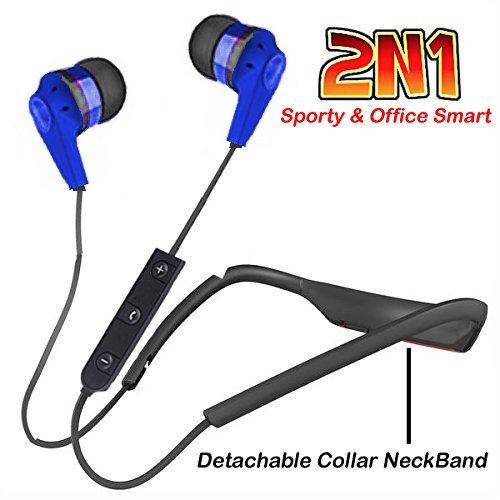 NECKBAND | NECLACE ( 2N1) for Mega bass eXperience for music and calls with Mic EZ283-BLUE - EZELLER