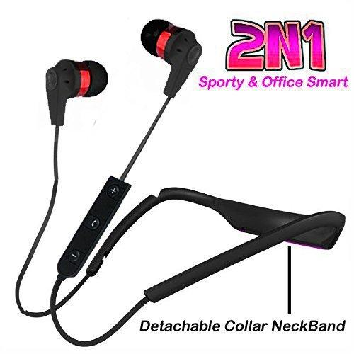 NECKBAND | NECLACE ( 2N1) for Mega bass eXperience for music and calls with Mic  EZ283-RED - EZELLER
