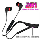 NECKBAND | NECLACE ( 2N1) for Mega bass eXperience for music and calls EZ283-RED - EZELLER