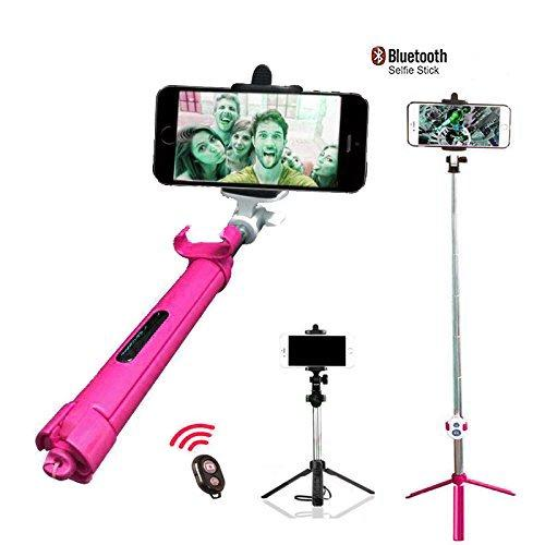 3n1 Bluetooth Selfie Stick + Tripod + Bluetooth Camera Remote Controller for Android & Apple-EZ291 - EZELLER