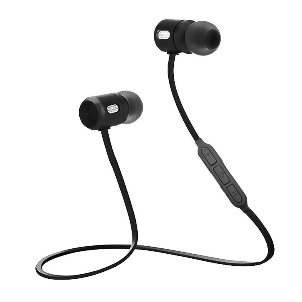 Bluetooth Lightweight Stereo Earbuds with Magnetic Connection Sweat proof Sports Headset EZ306-Black - EZELLER