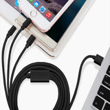 Joy CABLE3N1 Nylon Braided 1000mn Universal Micro USB TYPE C | Type B - EZELLER