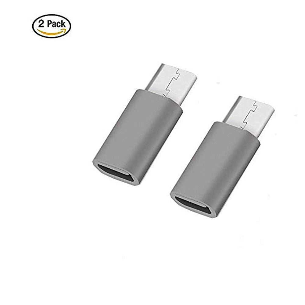 Mobile Adaptor/C-01 Type Metal Adaptor (Pack of 2) Micro to Type C EZ312 COMBO - EZELLER