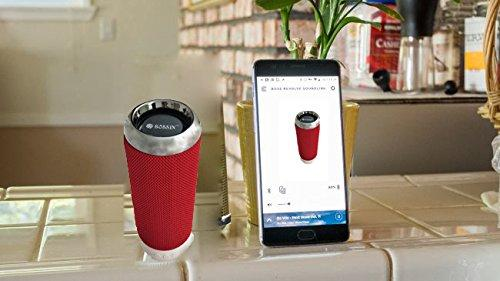 Bossin IPX6 Portable Wireless Waterproof Speaker with FM Radio, USB Port & Memory Slot EZ318-RED - EZELLER
