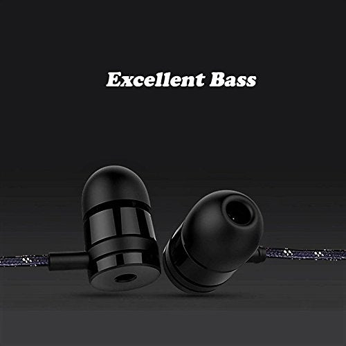 Power Bass Beats Earphone with mic EZ323 Black - EZELLER