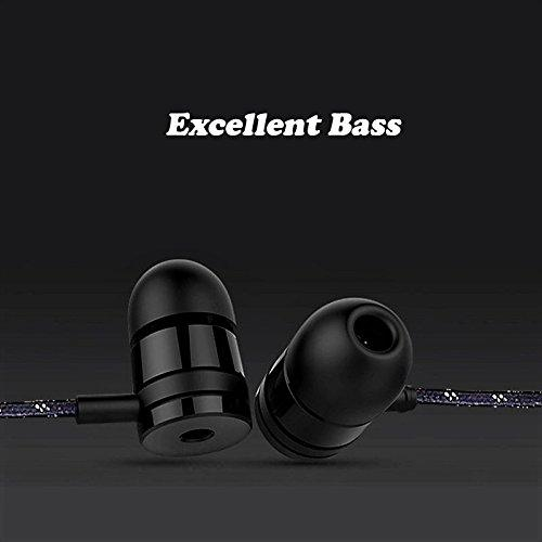 Power Bass Beats Earphone 3.5mm Headphone with MIC  EZ323 Black - EZELLER