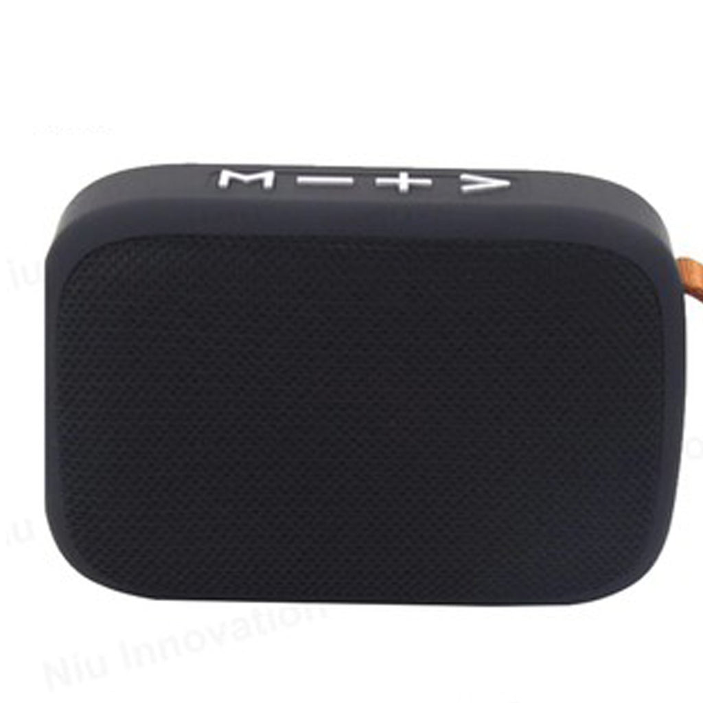 Splash Water Proof Bluetooth Speaker FM Radio USB SD card slot EZ331-BLACK - EZELLER
