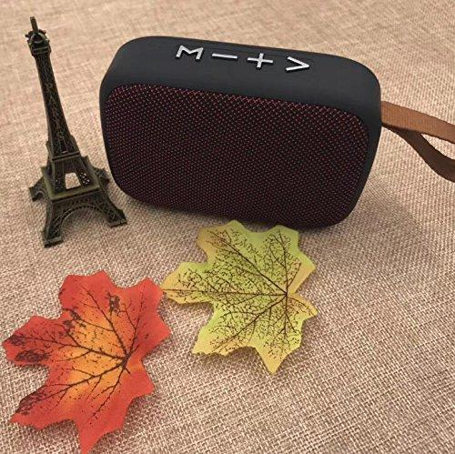 Splash Water Proof Bluetooth Speaker FM Radio USB SD card slot EZ331-RED - EZELLER