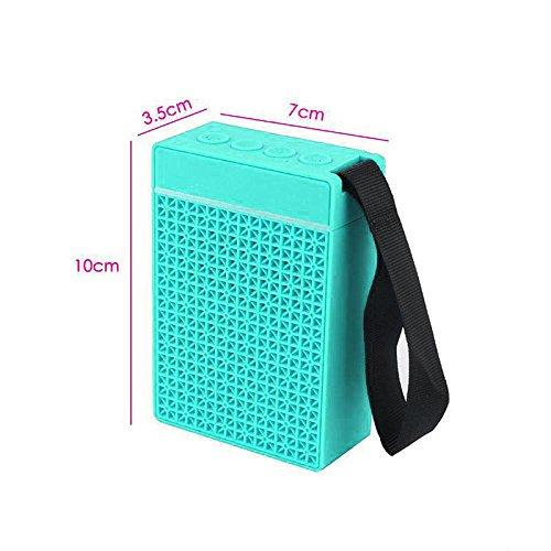 Pocket-on Bluetooth Speakers with In-built FM radio Plug & Play USB Port Memory card EZ334-Green - EZELLER