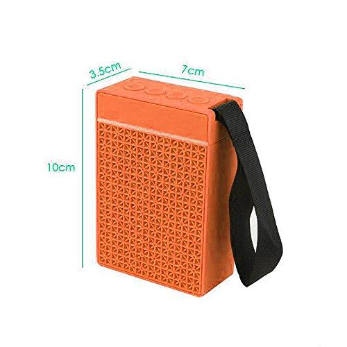 Pocket-on Bluetooth Speakers with In-built FM radio USB Port Memory card slot EZ334-Orange - EZELLER