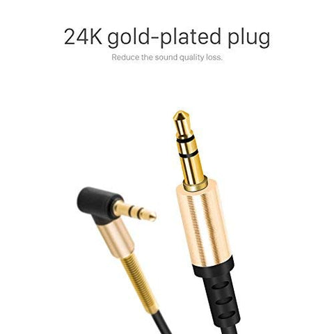 Aux Cable 3.5mm Male to 3.5MM Male Cable, Gold-plated Stereo 3.5mm EZ375 - EZELLER