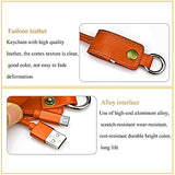 ITech Multi Function USB Fast Charging Leather Keychain Charger for Android Phone (Brown) EZ377 - EZELLER