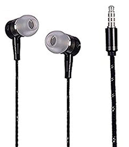 Earphone With Mic Universal headphone with MIC EZ387-Black - EZELLER