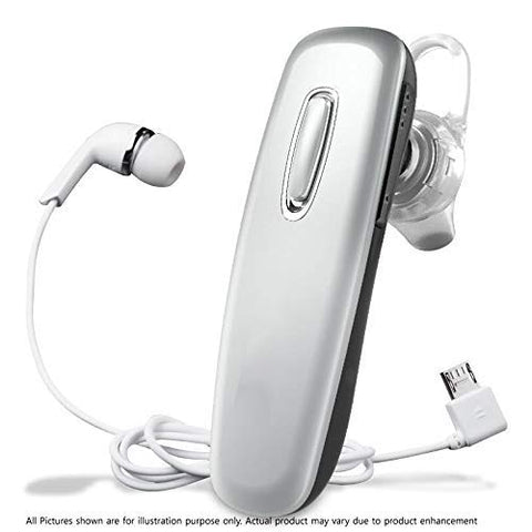 Itech Jack-Pro Stereo Bluetooth Earphone with MIC & Volume EZ390 Silver - EZELLER