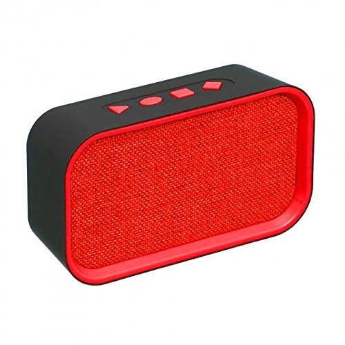 BSPOWER Music Power Portable Bluetooth Speaker with FM USB TF SLOT  EZ395-RED - EZELLER