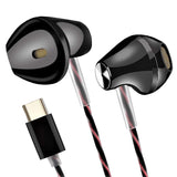 Fashion Sport Earphone with Mic & Volume (-/+) Type C PIN EZ399 Type C Black - EZELLER