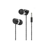 JOY 3n1 Earphone Universal Supported 3.5 mm Jack EZ412 Black - EZELLER