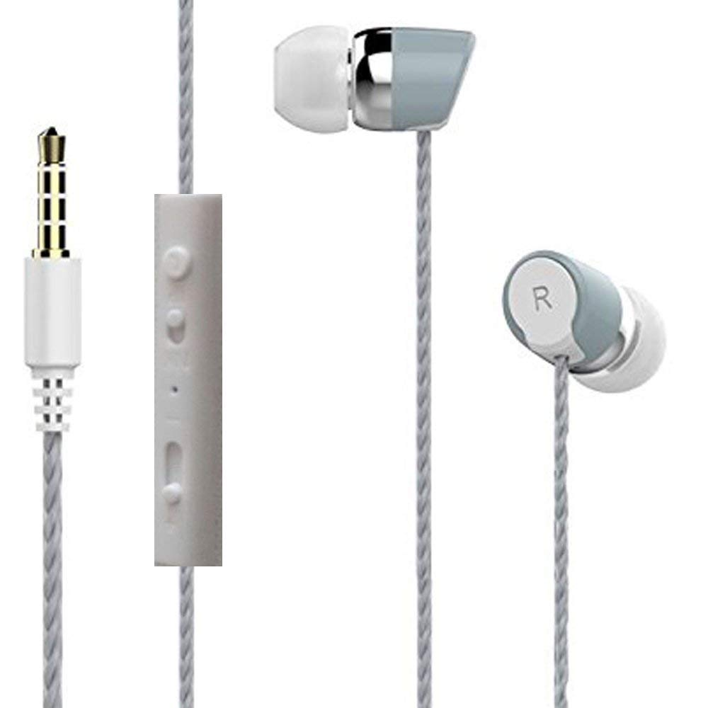 JOY 3n1 Earphone Universal Supported 3.5 mm Jack EZ412 Grey - EZELLER