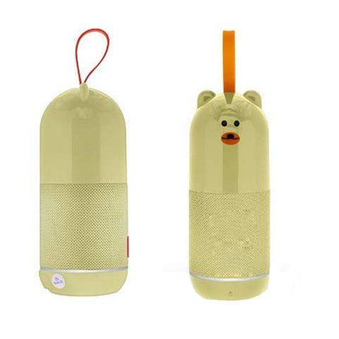 Teddy Bluetooth Speaker with USB/TF Slot | FM Radio | Aux | USB EZ421 Peachy Kaki