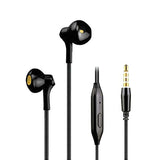 KIN Style Headphone | Earphone with Mic for Mobile Phones EZ428 Black - EZELLER