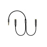 KIN AUX Audio Metal Headphone Splitter  Mobile Phones EZ429 Black - EZELLER