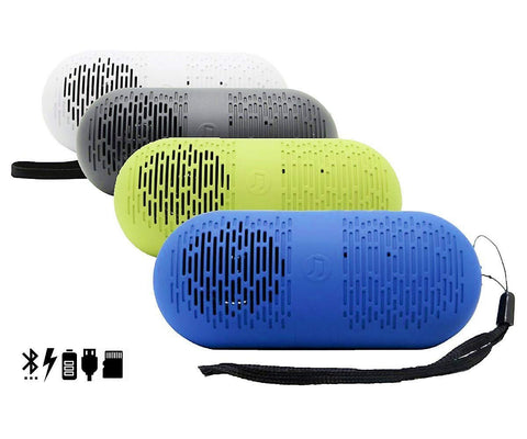 Music Capsule 2 Bluetooth Speaker with Inbuilt FM USB SD Slot EZ432 (Assorted Colors) - EZELLER