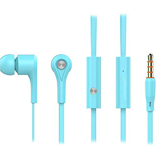 Funky Style Earphone with Mic 3.5mm Pin for Android Mobiles EZ438 BLUE - EZELLER