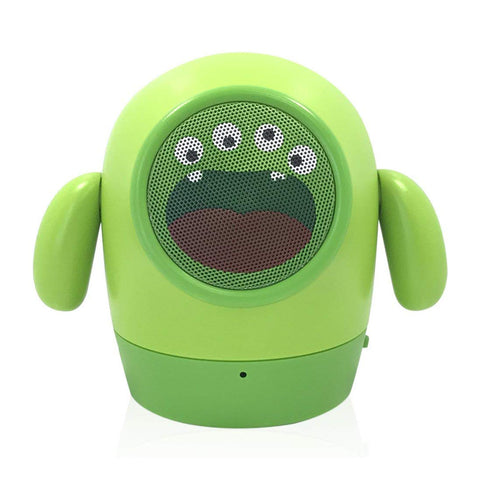 Music Monster Rugged Cartoon Bluetooth Speaker with in-Built FM USB SD Slot EZ445 GREEN - EZELLER