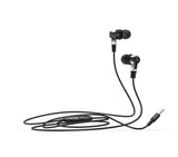 Sturdy Head Bass Headphone with Mic Rubberised Wire for Android Mobiles, iPhone, IPad EZ447 BLACK
