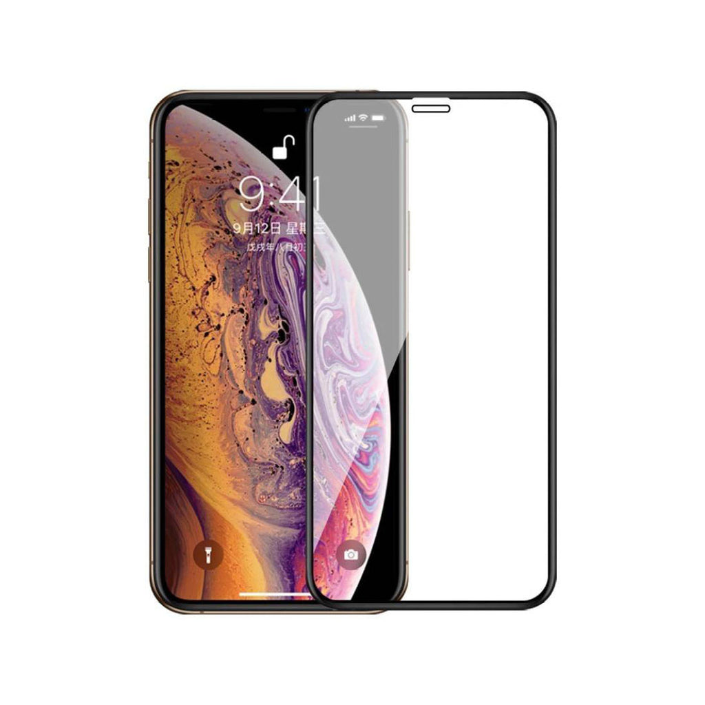 iPhone Xs Full Tempered Glass 6D, Ultra Clear, Zero Bubbles, Sensitive Touch - EZELLER