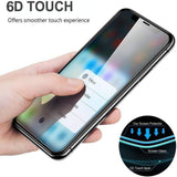 iPhone X Full Tempered Glass 6D, Ultra Clear, Zero Bubbles, Sensitive Touch,9H Hardness - EZELLER