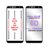 Samsung J6 Plus Full Tempered Glass 6D, Ultra Clear, Zero Bubbles, Sensitive Touch,9H Hardness EZ448