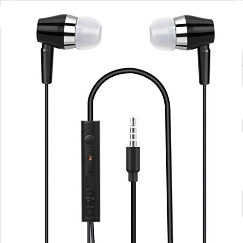 Universal Earphone with Volume +/- Compatible with All Android Mobile Phones EZ465 (BLACK)