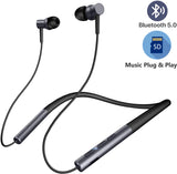 JOY Sports Plus Bluetooth Neckband with TF Card Slot Magnetic Head with Bass + for Smartphones - EZELLER