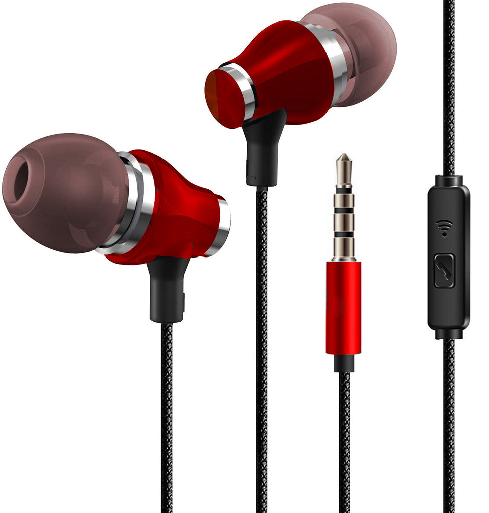 Metal Bass Earphone With Texture wire Design Compatibility for all Mobiles EZ525