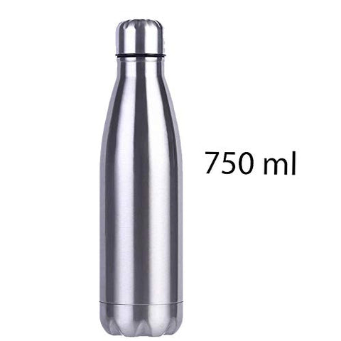 Stainless Steel Water Bottle 750 ML Durable BPA Free Leak Proof for School Kids, Travel, Office & Daily Home Usage Purpose - EZELLER
