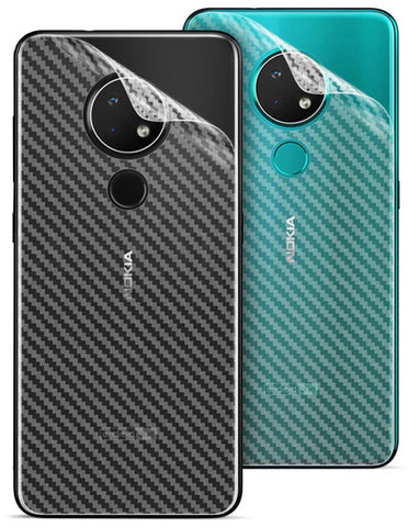 Nokia 5.3 Back Screen Protector by Ctel, 3D Back Skin Carbon Fiber Ultra-Thin Protective Film (2 Packs) Transparent Back Cover for Nokia 5.3