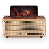 JOY Vintage Retro Wooden Bluetooth Speaker by JOY, Built-in FM Radio, USB Drive & TF Card Slot, Aux in & MIC for All Smart Phones, Laptops and Tablets
