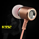 Heavy Bass Hifi Sound Quality Music Metal Earphone With Mic EZ373-GOLD - EZELLER