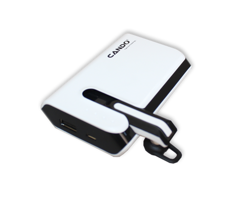 CANDO S007 PB 6000 MAh PowerBank + BLuetooth Headset EZ097-White - EZELLER