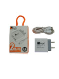2 USB Fast Charging Adaptor 2.1 A + Free Micro USB Cable with 6 Mths Warranty EZ435 - EZELLER